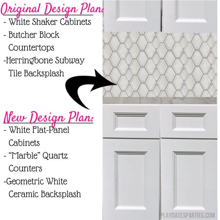 Kitchen renovation design changes - new design mockup