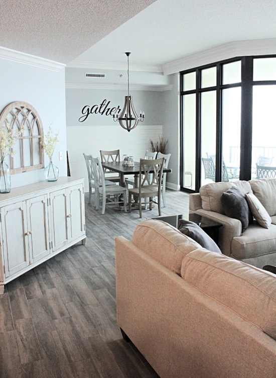 Modern Farmhouse Beach Condo From Repurpose and Upcycle.