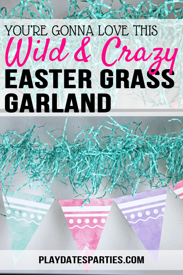 How to Make a Colorful Easter Grass Garland
