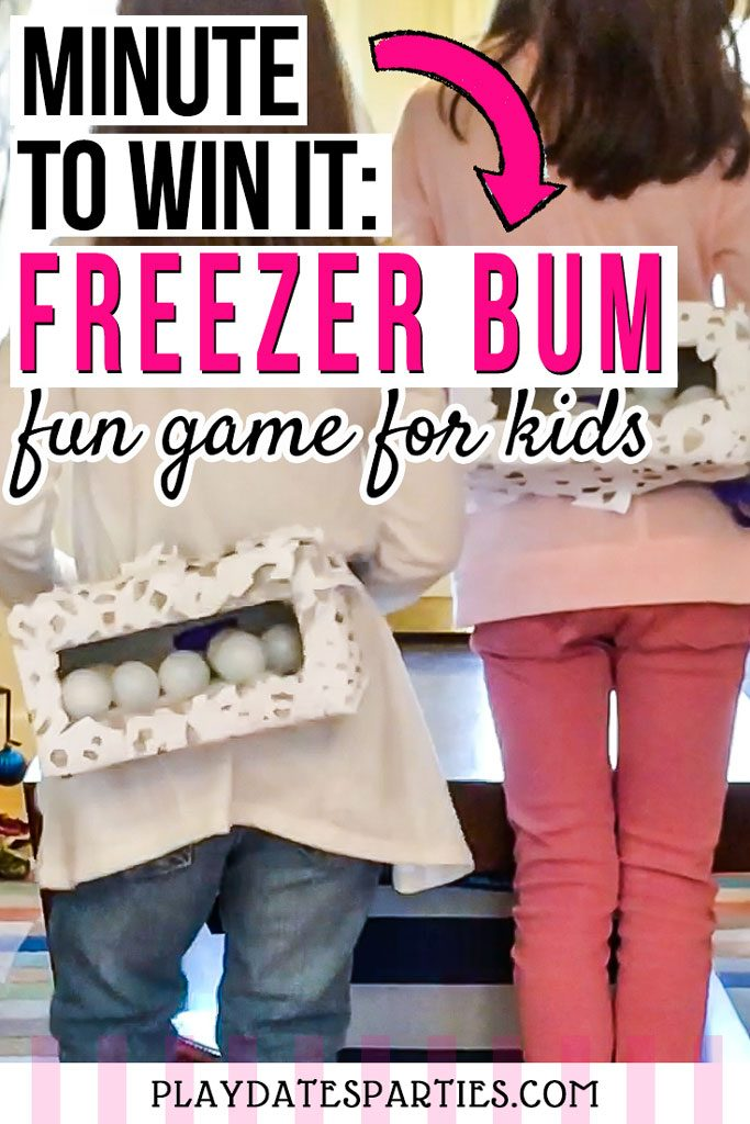 I'm always looking for simple kids party games that can be played indoor on cold winter days. This winter-themed version of the minute to win it junk in the trunk game is so much fun and is great for kids of all ages. Even our toddler and older kids thought this was the best funny game. And I loved that it provided hours of activities to do together. #kidsactivities #kidsgames