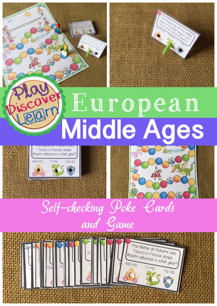 Medieval Game and Task Cards Learn