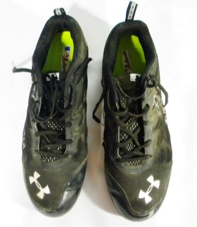Jorge Alfaro Autographed Game Used Cleats – Black Under Armour