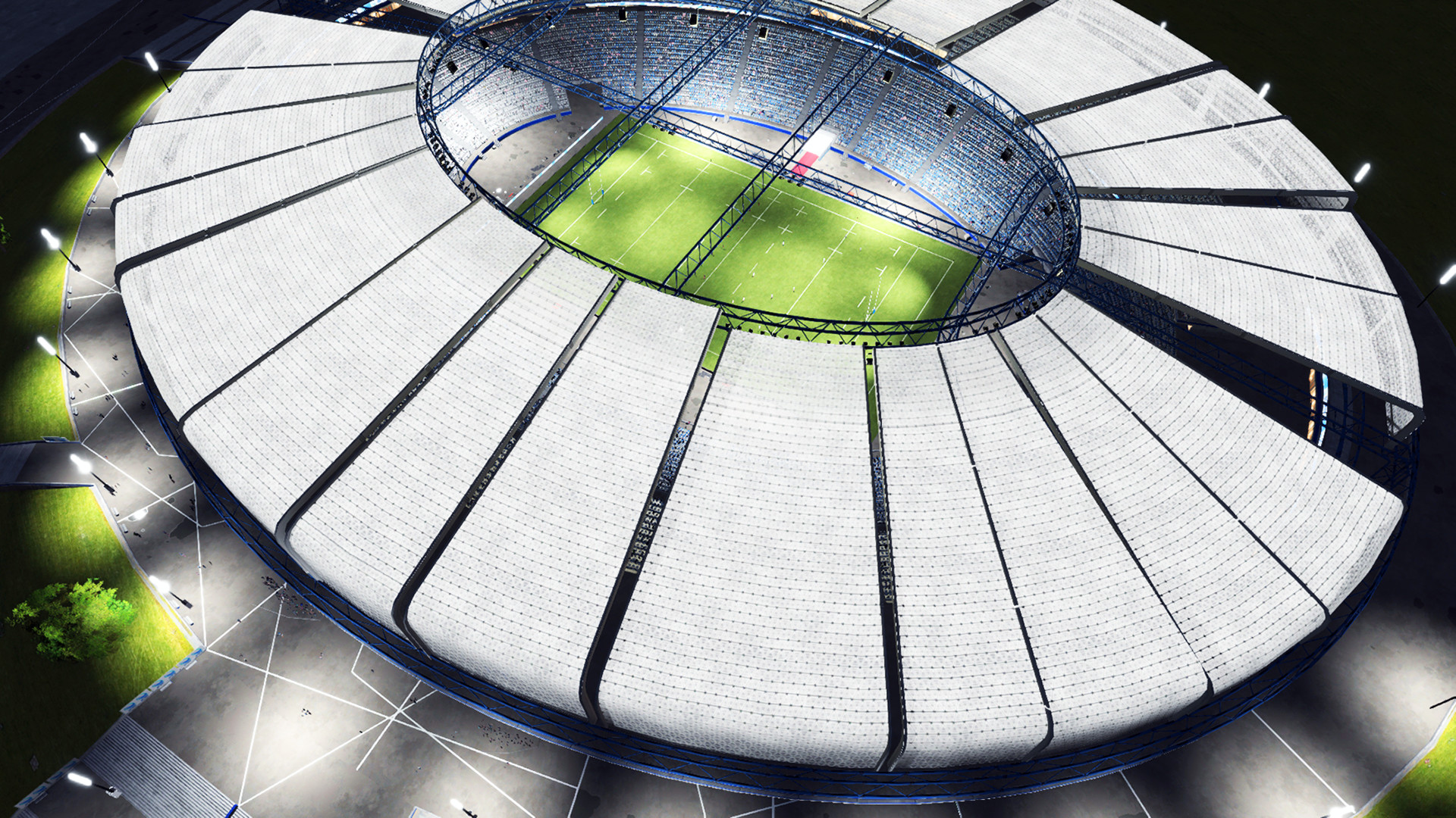 Rugby 20 - Aerial view of stadium