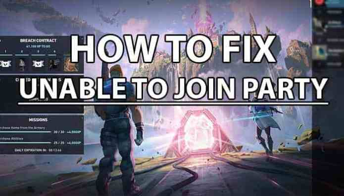 Valorant Unable to Join Party : How to Fix
