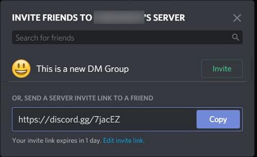 invite window
