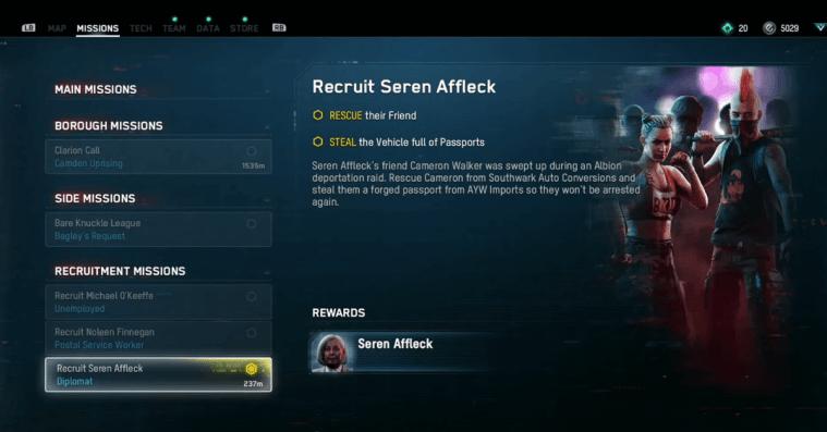 How to Recruit Seren Affleck – Watch Dogs Legion