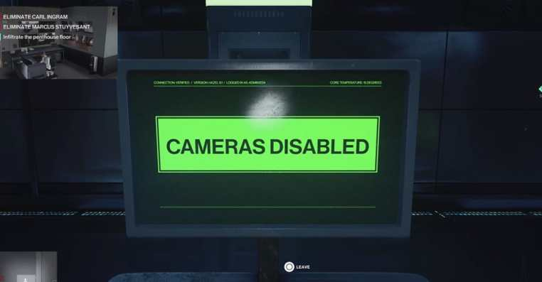 Hitman 3: How to Disable Cameras & Open Elevator Doors