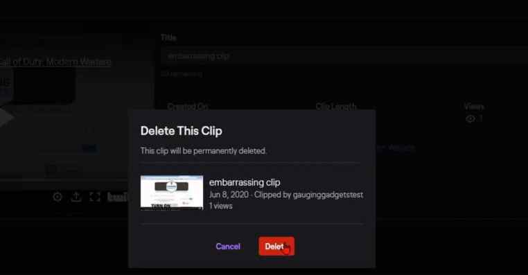 Twitch: How to Delete One or More Clips