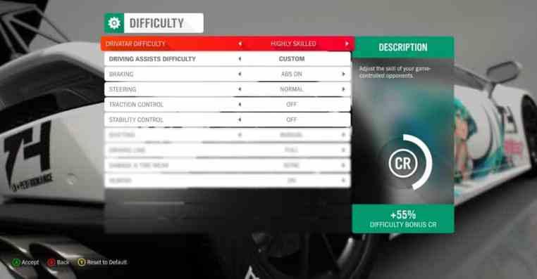 Forza Horizon 4 Wheel Settings: Logitech G920