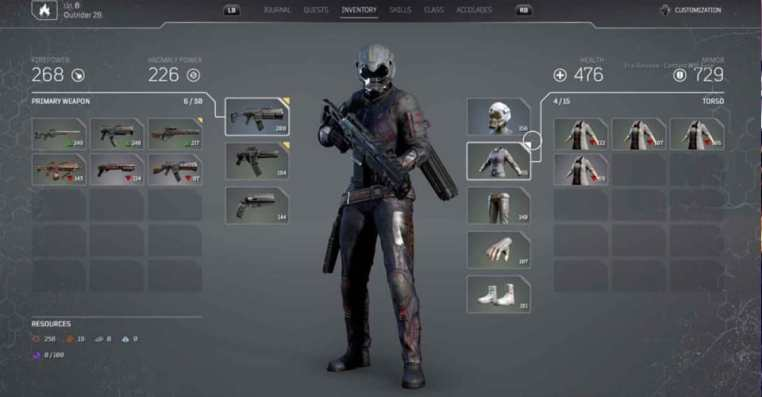Outriders Inventory | What Is Max Inventory Space