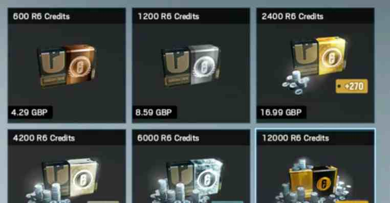 Rainbow Six Siege: Can't Buy Credits (Solution)
