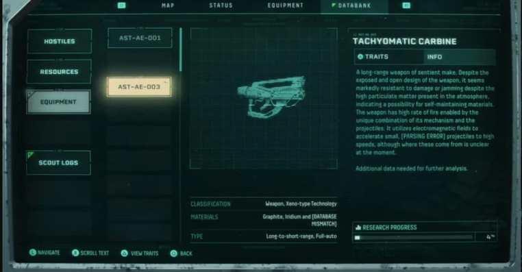 Returnal: Tachyomatic Carbine Location