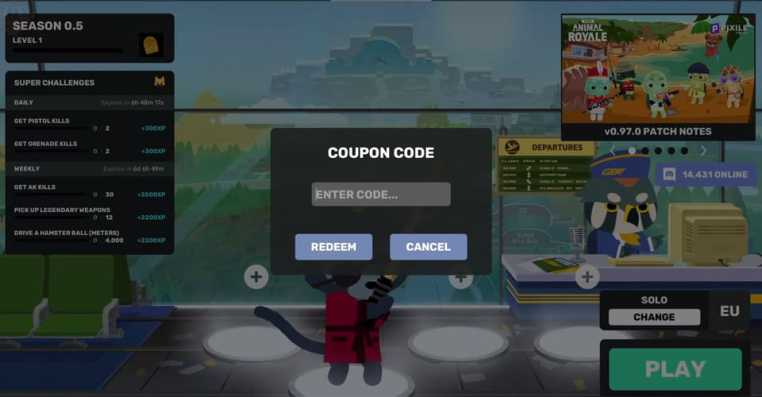 All Codes in Super Animal Royale: How to Redeem Coupon Codes