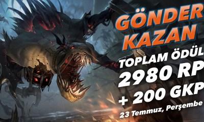 Gönder Kazan'da bu hafta: Toplam ödül 2980 RP + 200 GKP