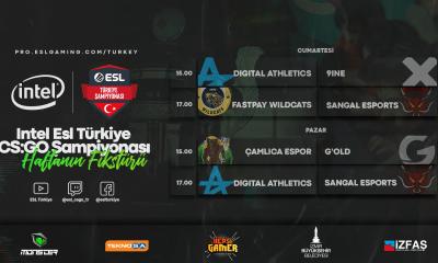 INTEL ESL Türkiye CS:GO Şampiyonası'nda 5. hafta heyecanı başlıyor