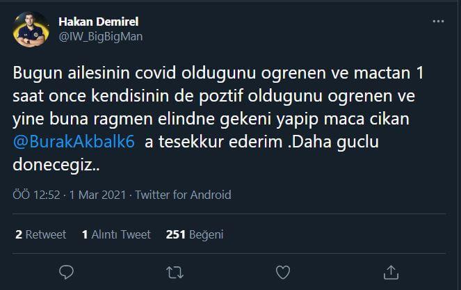 Hakan Demirel'den İstanbul Wildcats VALORANT oyuncusu Extreme'e teşekkür