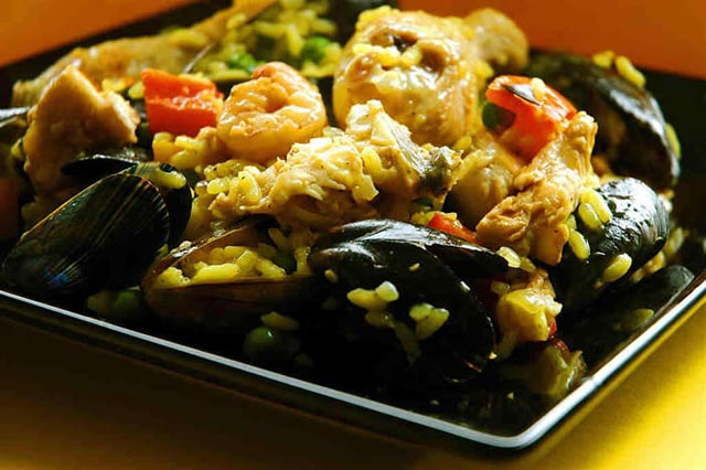 Have a traditional Spanish Paella.