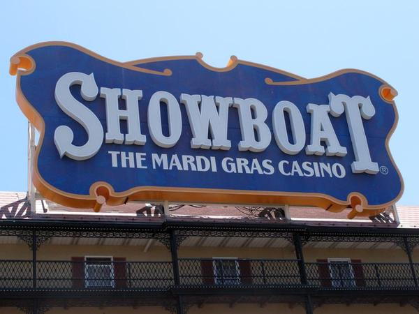 The Showboat Casino Hotel in Atlantic City N.J. is seen here on Friday June 27, 2014, hours after its parent company, Caesars Entertainment, announced it would shut down the Showboat on Aug. 31. It will be the second Atlantic City casino to close this year, along with The Atlantic Club, and a third may shut down as well if Revel Casino Hotel can't find a buyer in bankruptcy court. (AP Photo/Wayne Parry)
