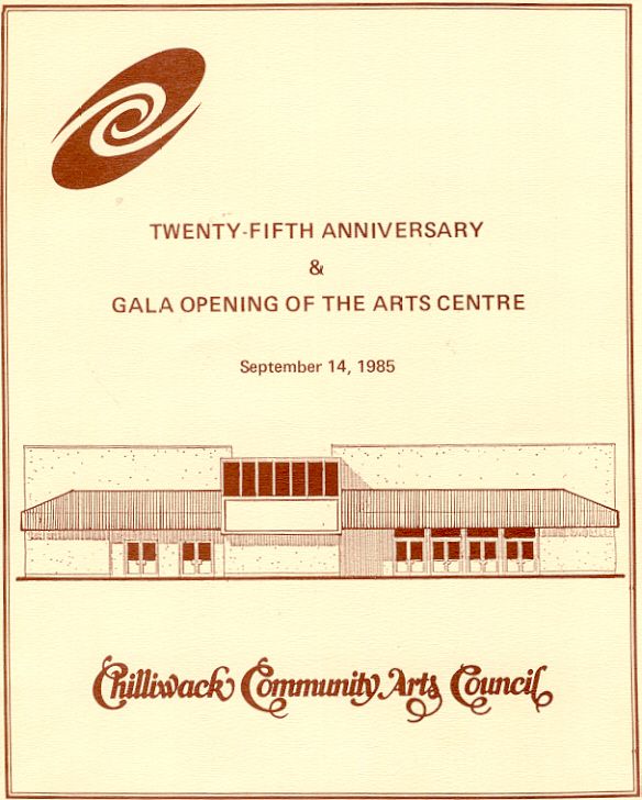 Opening of the Chilliwack Arts Centre: 1985