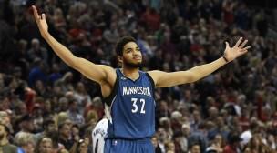 Minnesota Timberwolves Center, Karl Anthony-Towns.