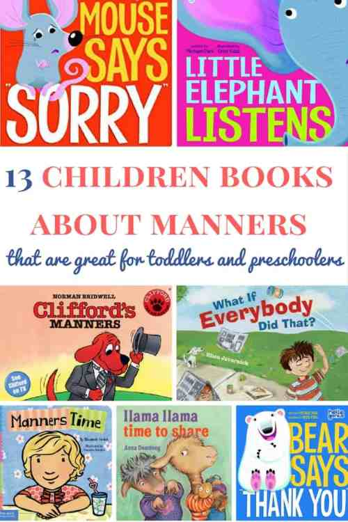 Children books about manners: A list of awesome children books for toddlers and preschoolers | Books about manners