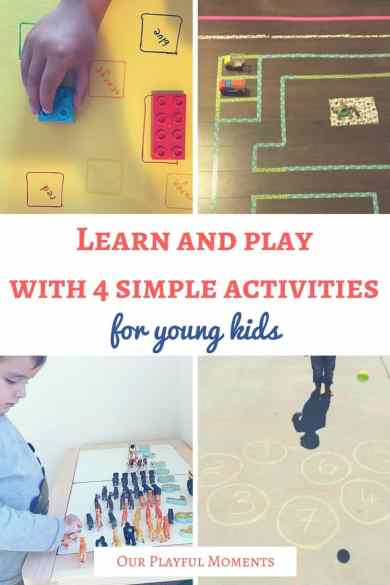 Learn and play with 4 simple activities for young kids | Play ideas for toddlers | Play ideas for preschoolers | Activity ideas