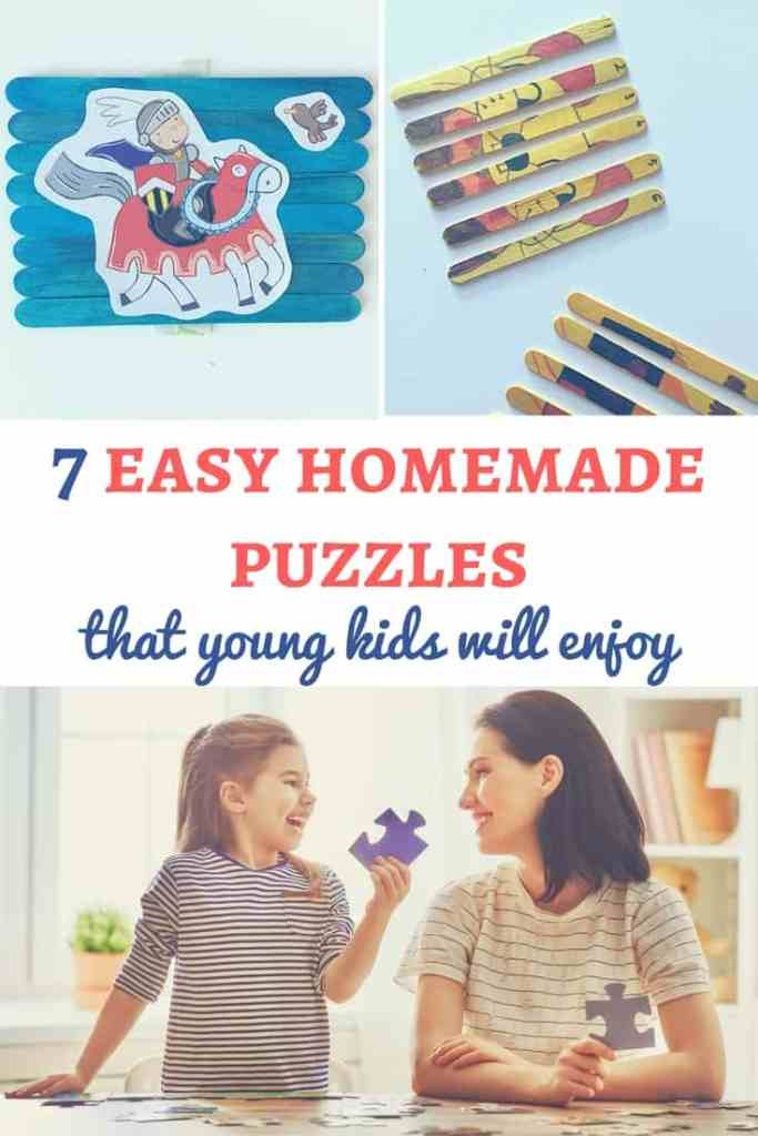 DIY puzzles for kids: Puzzles are a great way for kids to learn and have fun! Discover these 7 easy homemade puzzles that kids will enjoy and create them for your children! | Homemade puzzles for kids | DIY puzzles for kids | Homemade puzzle ideas