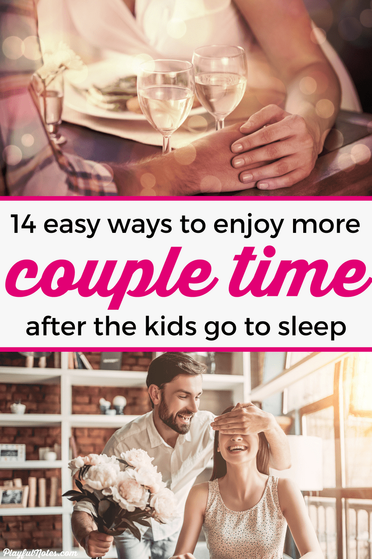 Check out 14 easy at-home date ideas that are perfect for parents! You can easily plan them after kids go to sleep and help you build a happy marriage! --- Date ideas | Marriage tips | Family life #Marriage #FamilyLife