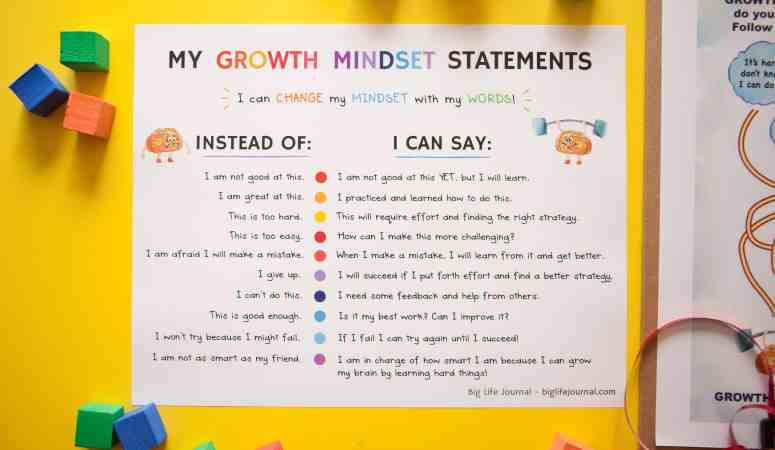 The best activities and resources that will help kids develop a growth mindset