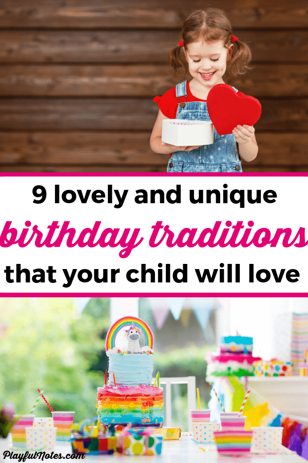Kids don't need big parties or gifts! These birthday traditions are perfect for making your child's birthday really special! Your child will feel loved and you'll build happy childhood memories that you'll enjoy for years to come! --- Birthday traditions for kids | Birthday interview for kids | Printable birthday interview | Family traditions #BirthdayTraditions #RaisingKids #FamilyLife