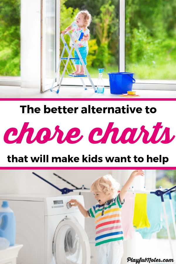 If chore charts bring you many power struggles and you want to get rid of all the nagging and negotiating, try this! It will totally change your child's attitude and help you teach them responsibility in a positive and playful way! --- Better alternative to chore charts | Chore ideas | Family contributions | Parenting tips #ParentingTips