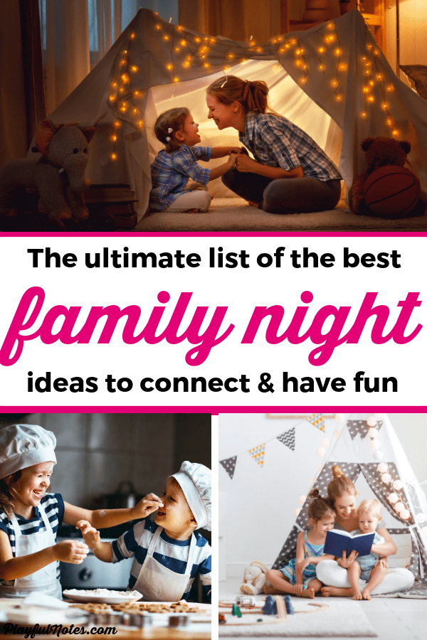 Are you looking for some easy and fun family night ideas to enjoy with your kids? These ideas for perfect for building connection and having fun together! --- Family night ideas | Family night with toddlers | Family night activities | Family night at home | Family life | Family fun #Parenting #FamilyLife