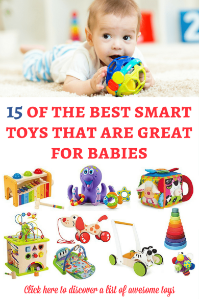 If you are looking for some smart toys for babies, here is a list of our favorite recommendations! They are awesome and I hope that they will inspire you!   Toys for babies   Gift guide for baby   Christmas gifts