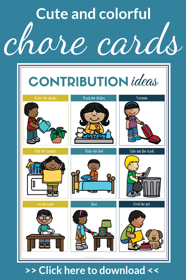 Download the printable chore cards and start implementing them in an easy and playful way! They will help you involve kids in household chores and raise responsible children. --- Chore charts for kids | Chore ideas for toddlers and preschoolers #FamilyLife