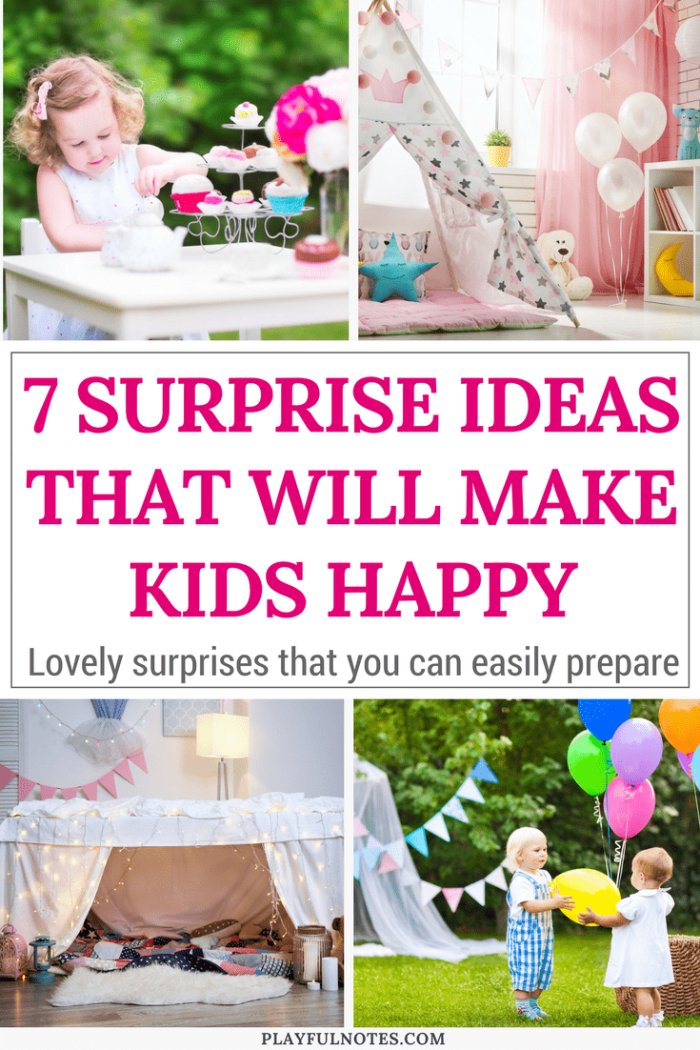 Surprise ideas for kids: A list of awesome surprise ideas for kids that you can easily prepare. | 7 ways to surprise your kids #ParentingTips #Kids