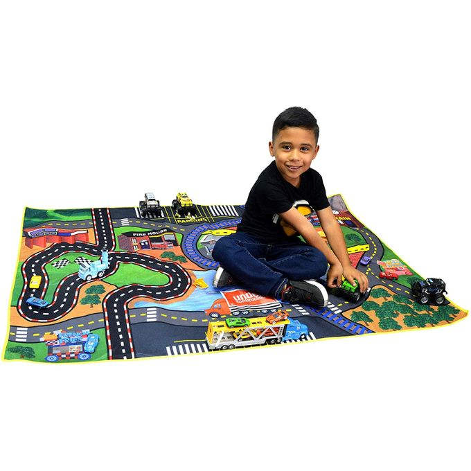tapis de jeu voiture et circuit 150 x 100 cm
