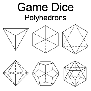 Game Dice Polyhedrons