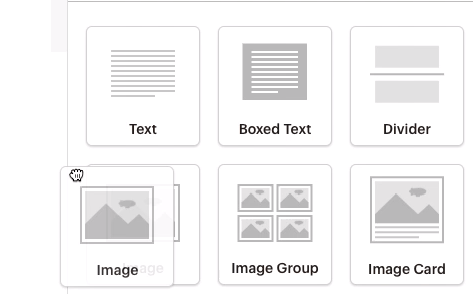 Insert your map using the Mailchimp image content block