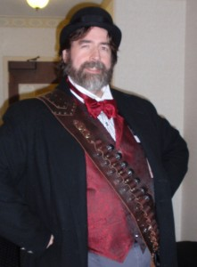 All Steampunked up for my reading.