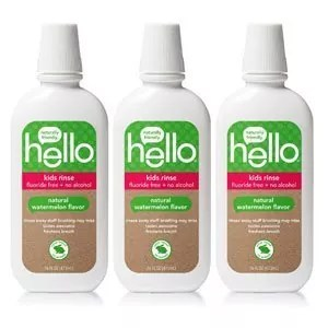 Hello Oral Care Kids Fluoride Free and SLS Free Rinse