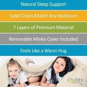 Quility Premium Kids Weighted Blanket