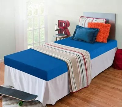 Zinus Memory Foam 5 Inch Bunk Bed Trundle Bed Day Bed Twin Mattress, Blue