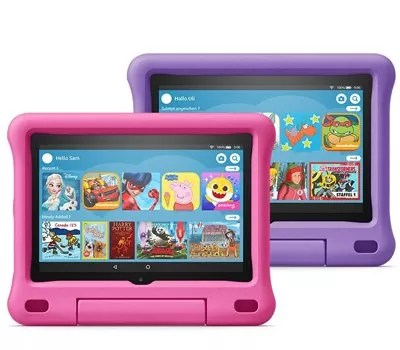 All-new Fire HD 8 Kids Edition tablet 2-pack, 8 HD display, 32 GB, Pink Purple Kid-Proof Case