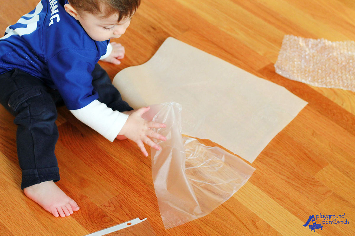 Fun With Kitchen Wrap Simple Sensory Activities For 1