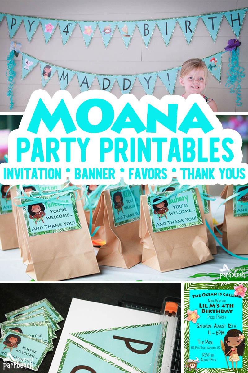 moana party printables