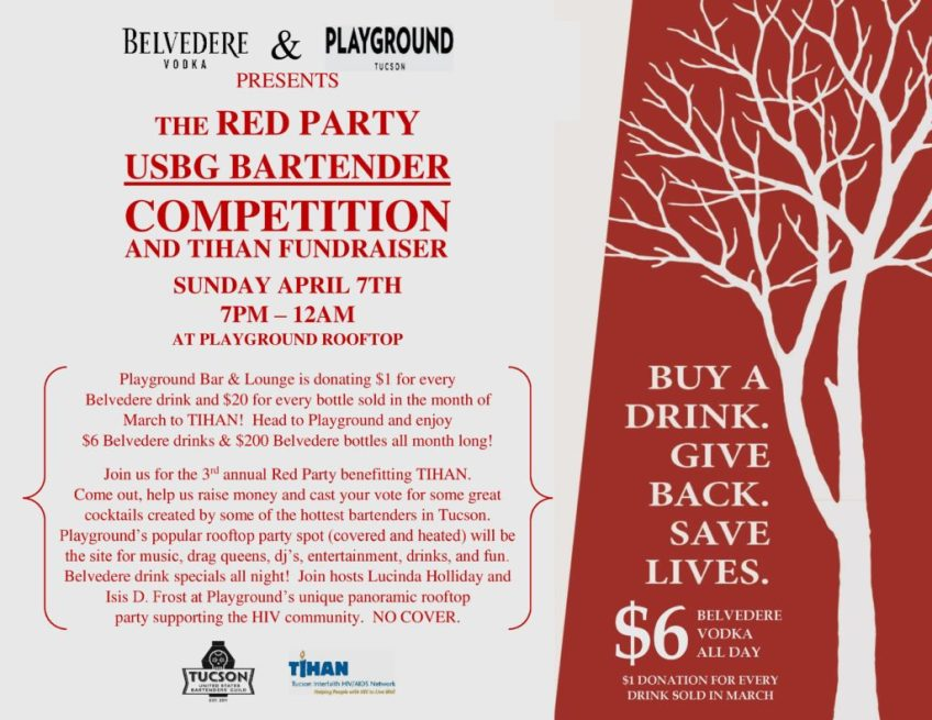 THE RED PARTY BARTENDER COMPETITION ON THE PLAYGROUND BAR AND LOUNGE ROOFTOP