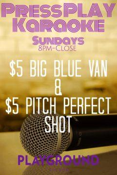 Press Play Karaoke Sundays