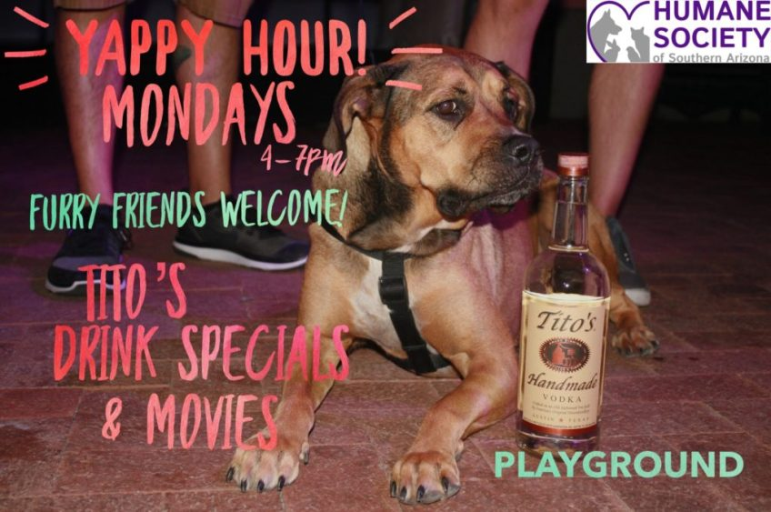 YAPPY HOUR MONDAYS WITH TITO'S VODKA AT PLAYGROUND BAR AND LOUNGE
