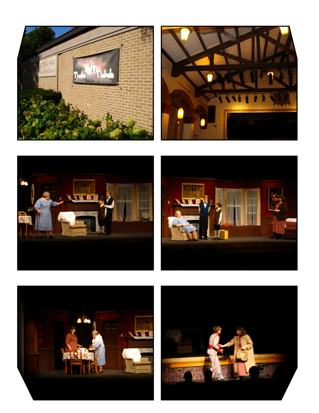 shots of community theater in action. hear it - smell it. photos by christopher brinckerhoff.
