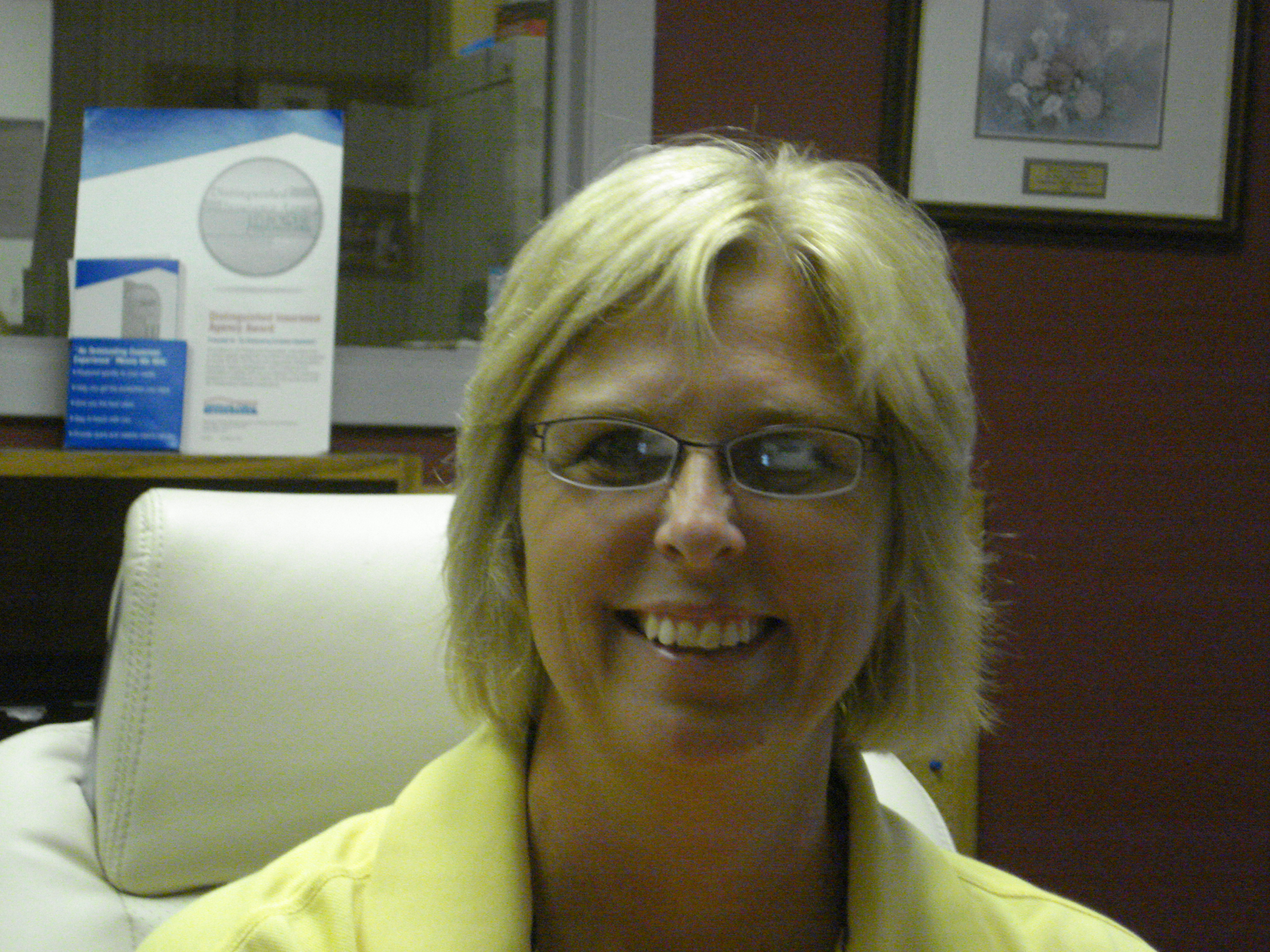 Waverly, Iowa American Family Insurance agent Kristi Demuth says she sees the healthcare reform question from two views: the provider and the receiver. Neither gives a clear answer. In fact, the opposite is true. It is complicated. Photo by Christopher Brinckerhoff.